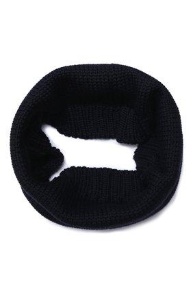 Детский шерстяной шарф-снуд CATYA темно-синего цвета, арт. 024755   Фото 1
