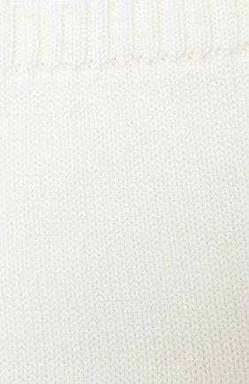 Детский шерстяной шарф-снуд CATYA белого цвета, арт. 024755 | Фото 2