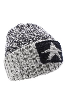 Детского шерстяная шапка CATYA серого цвета, арт. 024739 | Фото 1