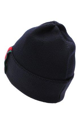 Детского шерстяная шапка CATYA темно-синего цвета, арт. 024731 | Фото 2