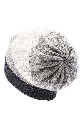 Детского шерстяная шапка CATYA серого цвета, арт. 024728 | Фото 2
