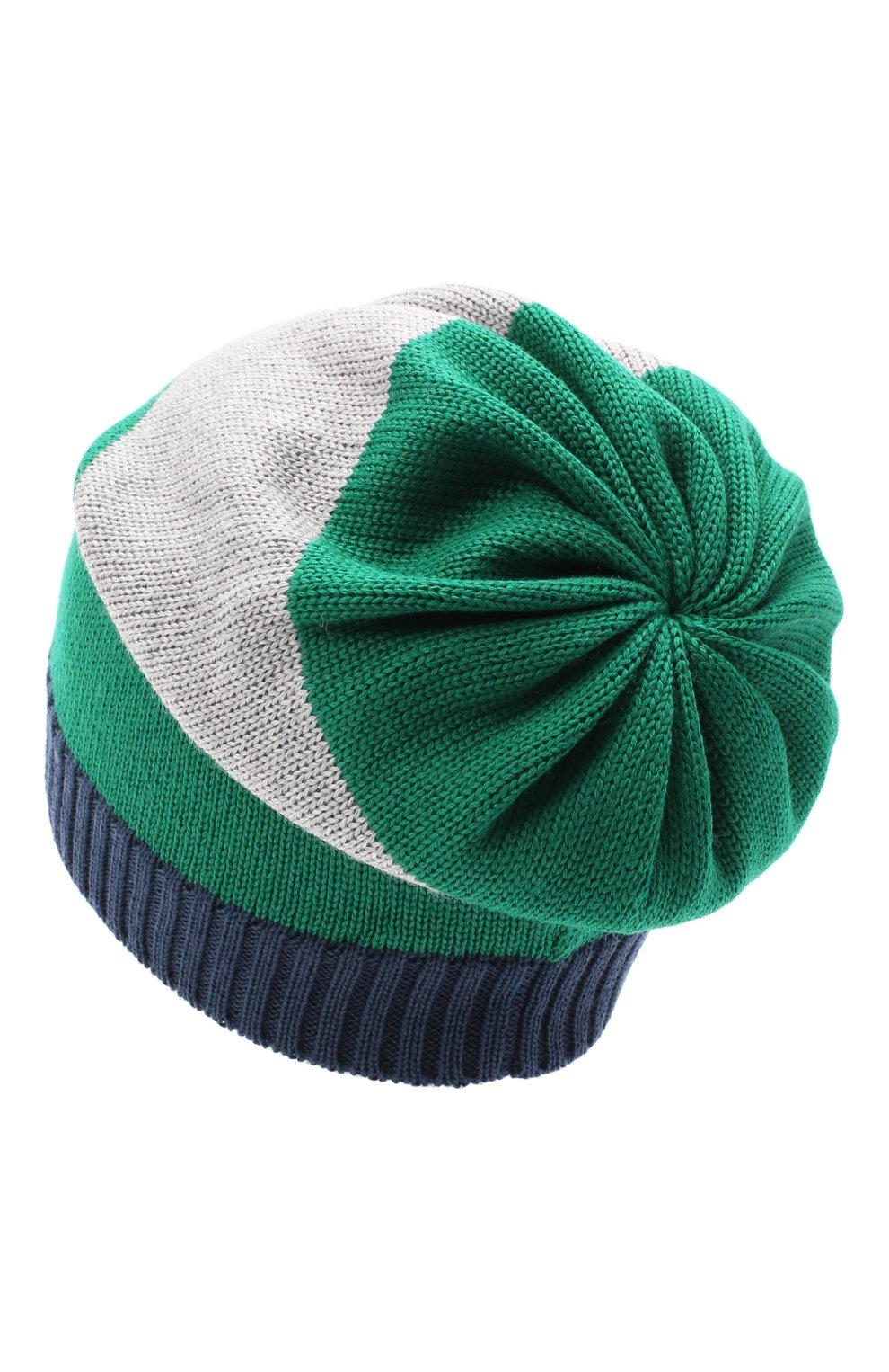 Детского шерстяная шапка CATYA разноцветного цвета, арт. 024728 | Фото 2