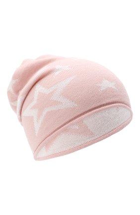 Детского шерстяная шапка CATYA розового цвета, арт. 024720 | Фото 1