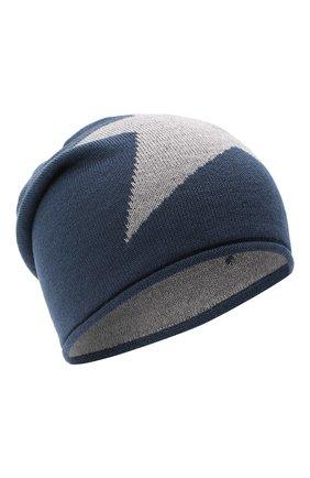 Детского шерстяная шапка CATYA темно-синего цвета, арт. 024719 | Фото 1