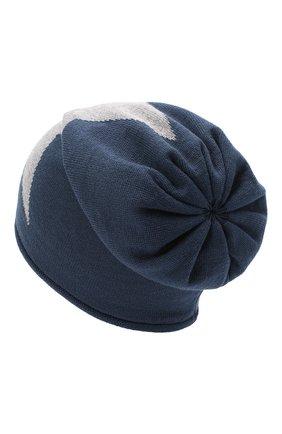 Детского шерстяная шапка CATYA темно-синего цвета, арт. 024719 | Фото 2