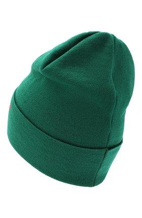 Детского шерстяная шапка CATYA салатового цвета, арт. 024717 | Фото 2