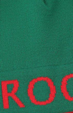 Детского шерстяная шапка CATYA салатового цвета, арт. 024717 | Фото 3