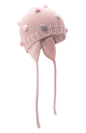 Детского шерстяная шапка CATYA розового цвета, арт. 024696/A | Фото 1