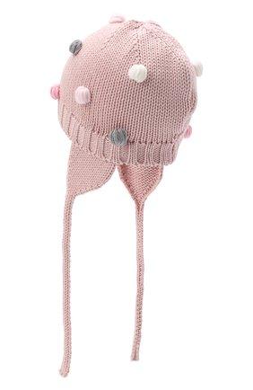 Детского шерстяная шапка CATYA розового цвета, арт. 024696/A | Фото 2