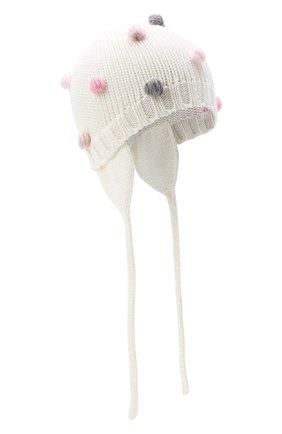 Детского шерстяная шапка CATYA белого цвета, арт. 024696/A | Фото 1