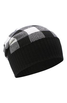 Детского шерстяная шапка CATYA черно-белого цвета, арт. 024678 | Фото 1