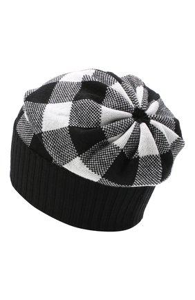 Детского шерстяная шапка CATYA черно-белого цвета, арт. 024678 | Фото 2