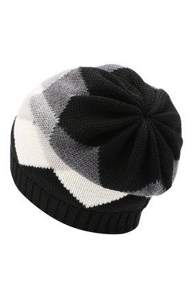 Детского шерстяная шапка CATYA серого цвета, арт. 024670/1 | Фото 2