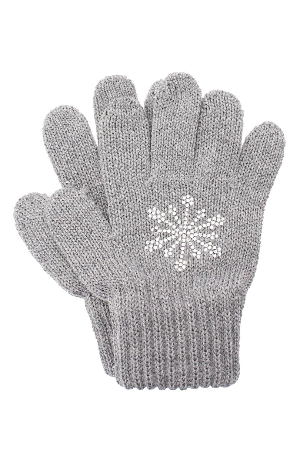 Детские шерстяные перчатки CATYA серого цвета, арт. 024531 | Фото 1