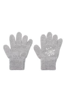 Детские шерстяные перчатки CATYA серого цвета, арт. 024531 | Фото 2