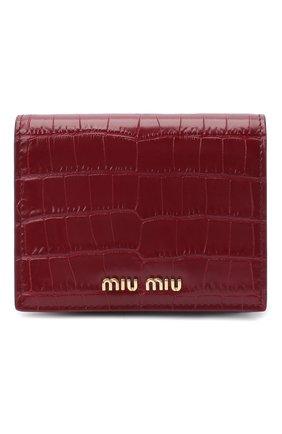 Женские кожаное портмоне MIU MIU красного цвета, арт. 5MV204-2B8G-F0041 | Фото 1