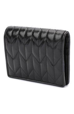 Женские кожаное портмоне MIU MIU черного цвета, арт. 5MV204-2D6C-F0002 | Фото 2