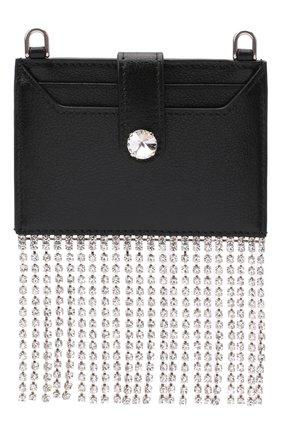 Женский кожаный футляр для кредитных карт MIU MIU черного цвета, арт. 5DH020-2D5M-F0002 | Фото 1