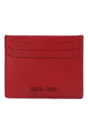 Женский кожаный футляр для кредитных карт MIU MIU красного цвета, арт. 5MC002-34-F068Z | Фото 1