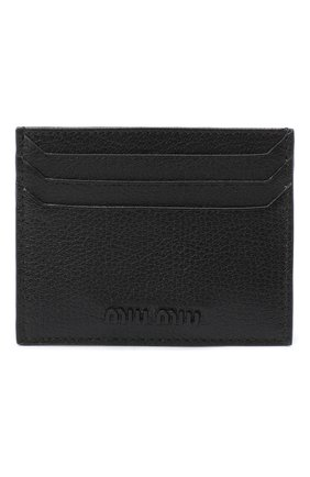 Женский кожаный футляр для кредитных карт MIU MIU черного цвета, арт. 5MC002-34-F0002 | Фото 1