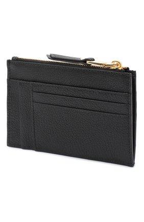Женский кожаный футляр для кредитных карт MIU MIU черного цвета, арт. 5MC446-34-F0002 | Фото 2
