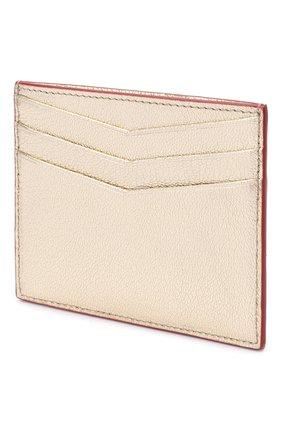 Женский кожаный футляр для кредитных карт MIU MIU золотого цвета, арт. 5MC002-2BQ3-F0846 | Фото 2