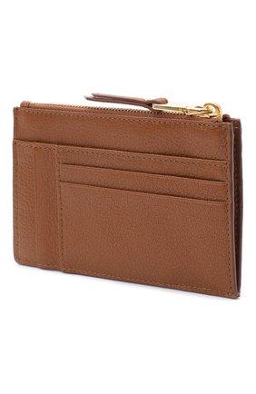 Женский кожаный футляр для кредитных карт MIU MIU бежевого цвета, арт. 5MC446-34-F0134 | Фото 2