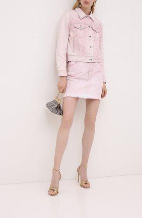 Женская джинсовая куртка MIU MIU розового цвета, арт. GWB070-1VZT-F0028 | Фото 2