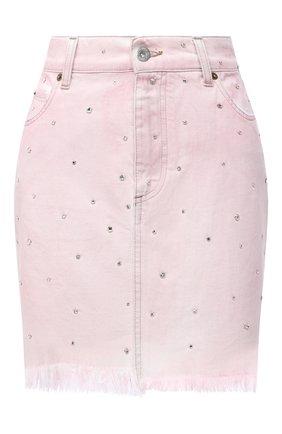 Женская джинсовая юбка MIU MIU розового цвета, арт. GWD190-1VZT-F0028 | Фото 1