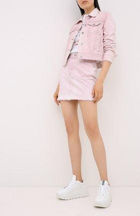 Женская джинсовая юбка MIU MIU розового цвета, арт. GWD190-1VZT-F0028 | Фото 2