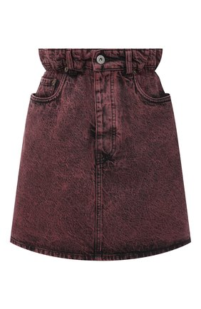 Женская джинсовая юбка MIU MIU розового цвета, арт. GWD237-1XD2-F0029 | Фото 1