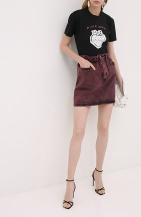 Женская джинсовая юбка MIU MIU розового цвета, арт. GWD237-1XD2-F0029 | Фото 2