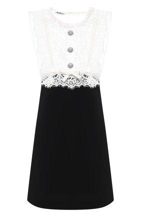 Женское платье MIU MIU черного цвета, арт. MF3571-1VJT-F0002   Фото 1