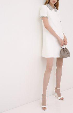 Женское платье MIU MIU белого цвета, арт. MF3864-1CSJ-F0K74   Фото 2