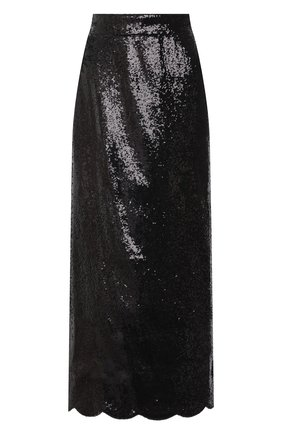 Женская юбка с пайетками MIU MIU черного цвета, арт. MG1421-3OBR-F0002   Фото 1