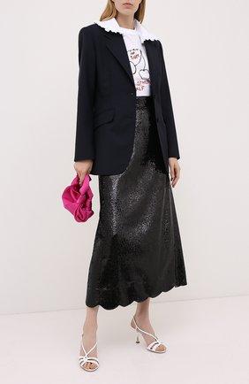 Женская юбка с пайетками MIU MIU черного цвета, арт. MG1421-3OBR-F0002   Фото 2