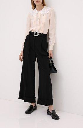 Женская шелковая блузка MIU MIU светло-бежевого цвета, арт. MK1478-1K9D-F0924   Фото 2