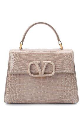 Женская сумка valentino garavani vsling из кожи аллигатора VALENTINO темно-бежевого цвета, арт. TW2B0F53/XDE/AMIS | Фото 1
