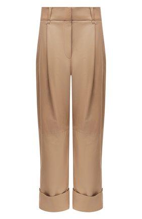 Женские кожаные брюки BRUNELLO CUCINELLI бежевого цвета, арт. M0TANP7201 | Фото 1
