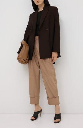 Женские кожаные брюки BRUNELLO CUCINELLI бежевого цвета, арт. M0TANP7201 | Фото 2