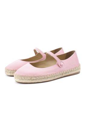 Женские текстильные балетки PRADA розового цвета, арт. 1F989L-49-F0442-20 | Фото 1