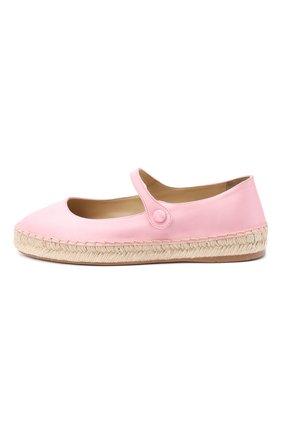 Женские текстильные балетки PRADA розового цвета, арт. 1F989L-49-F0442-20 | Фото 2