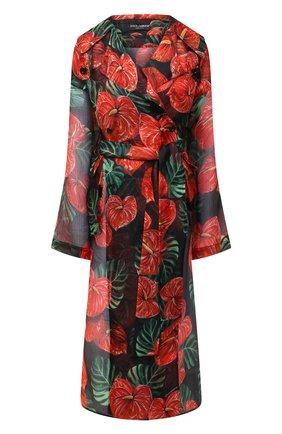 Женское шелковое пальто DOLCE & GABBANA красного цвета, арт. F0Z78T/IS1D0 | Фото 1