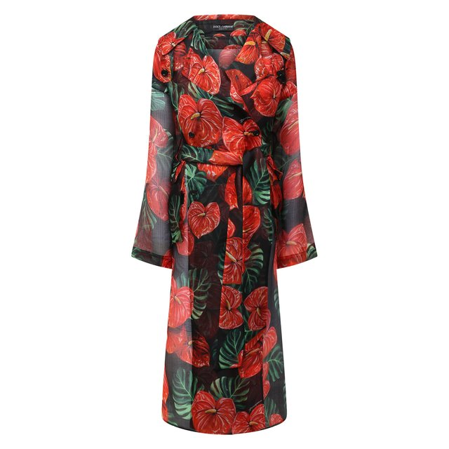 Шелковое пальто Dolce & Gabbana