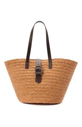 Женский сумка-шопер panier SAINT LAURENT бежевого цвета, арт. 619774/GQTHB | Фото 1