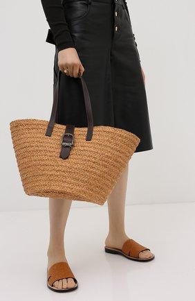 Женский сумка-шопер panier SAINT LAURENT бежевого цвета, арт. 619774/GQTHB | Фото 2