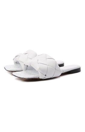 Женские кожаные шлепанцы BOTTEGA VENETA белого цвета, арт. 608853/VBSS0 | Фото 1