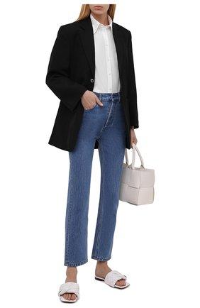 Женские кожаные шлепанцы BOTTEGA VENETA белого цвета, арт. 608853/VBSS0 | Фото 2