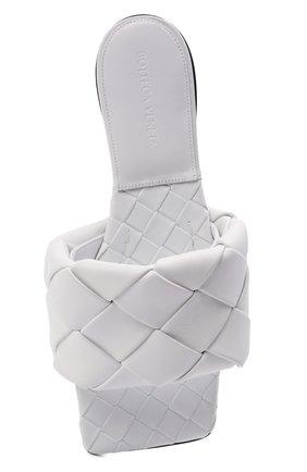 Женские кожаные шлепанцы lido BOTTEGA VENETA белого цвета, арт. 608853/VBSS0 | Фото 5