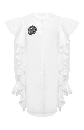 Женское хлопковое платье ULYANA SERGEENKO белого цвета, арт. ABC002SS20P (0135т20) | Фото 1